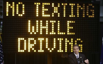 In this May 31, 2013 file photo, New York Gov. Andrew Cuomo speaks during a news conference to announce the increase in penalties for texting while driving in New York. (AP Photo/Frank Franklin II)