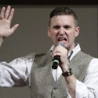 Richard Spencer, who leads a movement that mixes racism, white nationalism and populism, speaks at the Texas A&M University campus in College Station, Texas on December 6, 2016. (AP Photo/David J. Phillip)