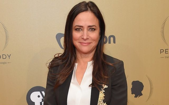 Pamela Adlon attending the 76th Annual Peabody Awards ceremony in New York, May 20, 2017. (by Michael Loccisano/Getty Images for Peabody)