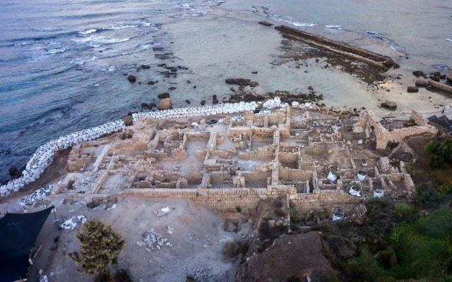 Aerial view of Caesarea National Park (Assaf Peretz/Israel Antiquities Authority)