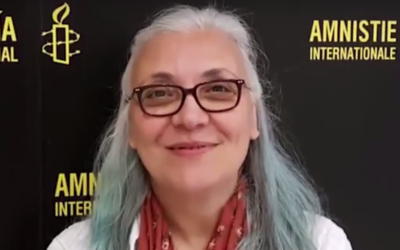 Amnesty International Turkey director Idil Eser. (Screen capture: YouTube)
