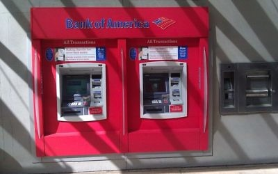 Illustrative photo of a Bank of America ATM. (CC BY-SA 3.0, Masrur Odinaev, Wikimedia Commons)