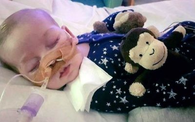 This undated hand out photo shows Charlie Gard provided by his family, at Great Ormond Street Hospital, in London. (Family of Charlie Gard via AP)