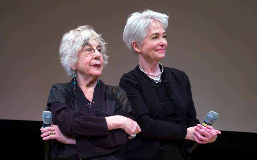 Lilly Rivlin, left, and Heather Booth at the first screening of 'Heather Booth: Changing the World.' (Photo Credit: Joan Roth)