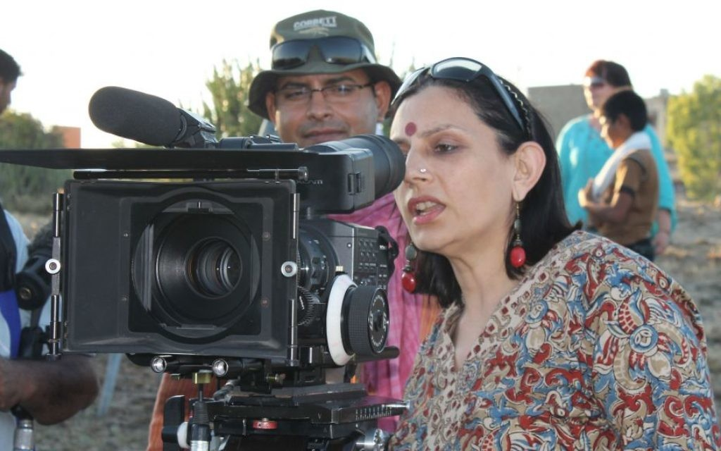 Producer and Director Anu Radha during production of 'Little Poland in India.' (Courtesy Anu Radha)