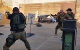Counterterrorism training at Caliber 3 tourist center in Gush Etzion, November 2016. (Screen capture: YouTube)