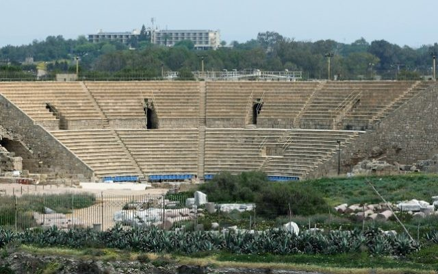 The Roman Amphitheater in Caesarea. (Moshe Shai/Flash90)