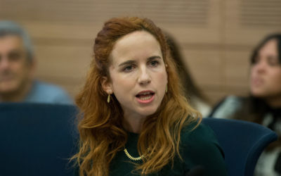 Labor MK Stav Shaffir attends an Education, Culture and Sports Committee meeting in the Knesset on January 27, 2016. (Yonatan Sindel/Flash90)