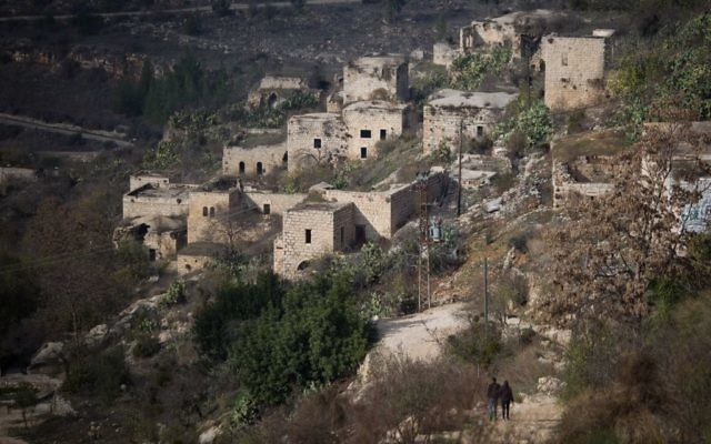 View of Lifta, on the outskirts of Jerusalem, December 17, 2016. (Hadas Parush/Flash90)