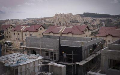 Efrat's Dagan neighborhood, where the Siach yeshiva is located, January 26, 2017 (Gershon Elinson/Flash90)