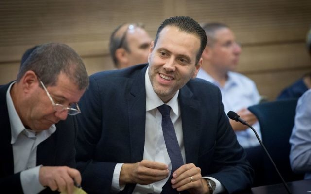 MK Miki Zohar seen during a State Control committee meeting at the Knesset, June 14, 2017. (Miriam Alster/FLASH90)