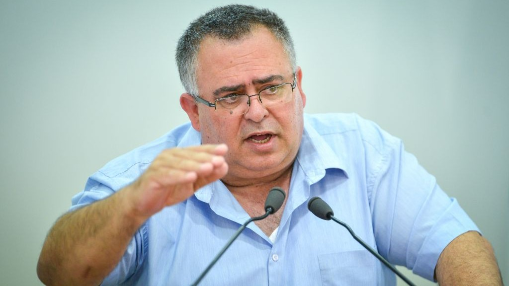 Coalition Chairman David Bitan (Likud) speaks at a press conference in Tel Aviv on June 22, 2017.(Flash90)