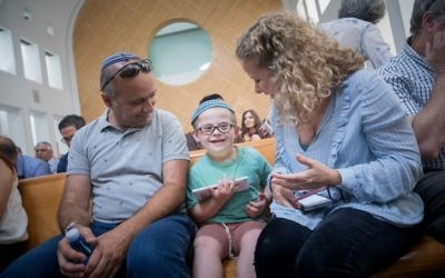 Parents of children from the Hadassah Hospital Ein Kerem hema-oncology department in the High Court of Justice in Jerusalem, July 9, 2017. (Yonatan Sindel/ Flash90)