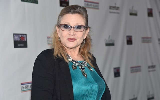 Carrie Fisher attending the US-Ireland Alliance's Oscar Wilde Awards event at J.J. Abrams' Bad Robot in Santa Monica, Calif., Feb. 19, 2015. (Alberto E. Rodriguez/Getty Images for US-Ireland Alliance)