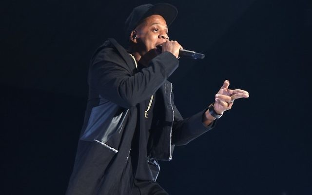Rapper Jay-Z performs onstage during TIDAL X: 1020 Amplified by HTC at Barclays Center of Brooklyn on October 20, 2015 in New York City. ( Jamie McCarthy/Getty Images for TIDAL via JTA))