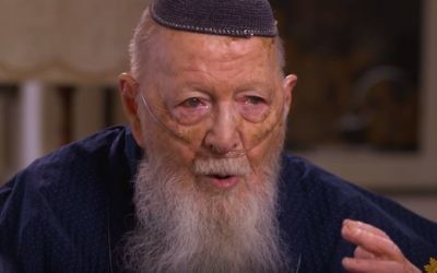 Herman Wouk during an interview with CBS, July 2, 2017 (screen capture/YouTube)