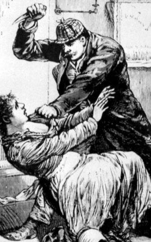 An 1888 Police Gazette depiction of Jack the Ripper. (Public domain)