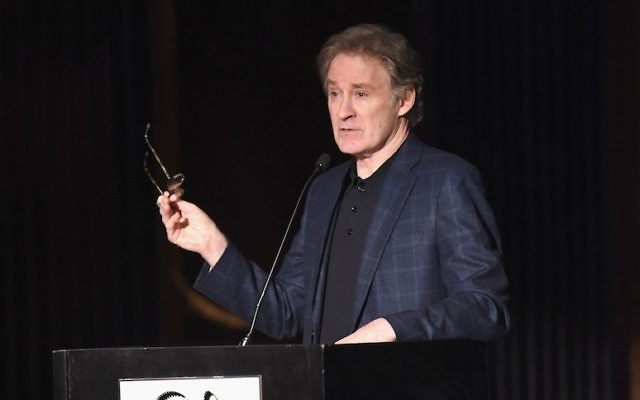 Kevin Kline speaking at the 2015 New York Film Critics Circle Awards at TAO Downtown in New York, Jan. 4, 2016. (Jamie McCarthy/Getty Images)