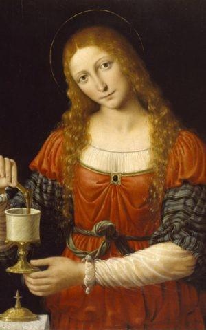 'Mary Magdalene', Andrea Solario and Bernardino Luini (ca. 1524 AD) (The Walters Art Museum)