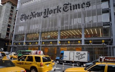 Illustrative photo of the New York Times building (Jonathan Torgovnik/Getty Images)