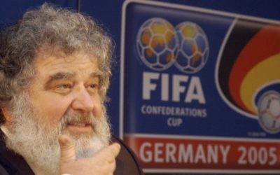 At the time Confederation of North, Central American and Caribbean Association Football (CONCACAF) general secretary Chuck Blazer attends a press conference in Frankfurt, Germany, February 14, 2005. (AP/Bernd Kammerer)