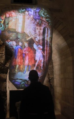 A portion of the Archaeology and Multimedia exhibition at the Flagellation Monastery, off Via Dolorosa in Jerusalem's Old City. (Courtesy of Tamschick Media)