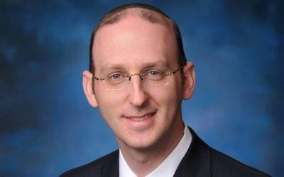 Rabbi Adam Scheier, the senior rabbi at Canada's oldest traditional Ashkenazi synagogue, Congregation Shaar Hashomayim, and a member of the Israeli rabbinate's 'blacklist.' (courtesy)