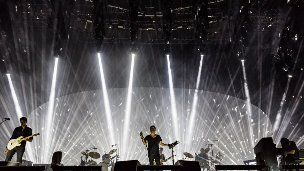 British rock band Radiohead performs in Tel Aviv's Hayarkon Park on July 19, 2017. (Courtesy)