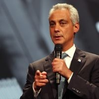 Chicago Mayor Rahm Emanuel attends the Inspirational Forum during Opportunity Fair and Forum on August 13, 2015 in Chicago, Illinois.  (Tasos Katopodis/Getty Images for 100,000 Opportunities Initiative)