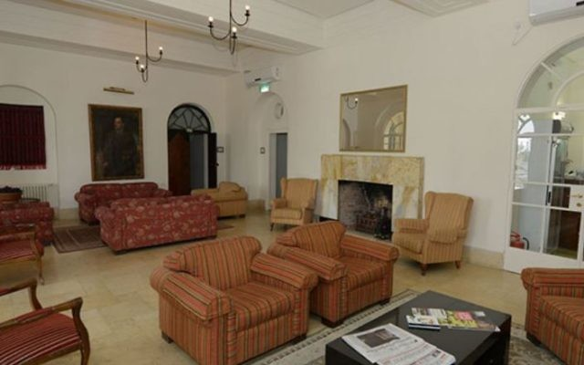 The lobby at the St. Andrew's Scots Guesthouse. (Courtesy)