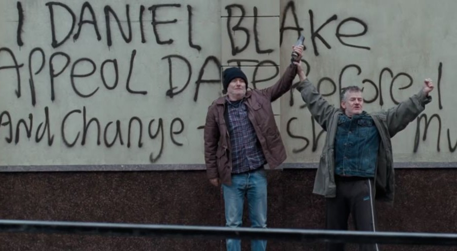 A scene from English director Ken Loach's film 'I, Daniel Blake.' (Screen capture: YouTube)