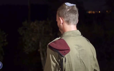 Sgt. A., who shot and injured a terrorist who killed three Israelis at the Halamish settlement on July 21 (IDF)