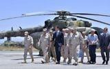 Syrian President Bashar Assad inspects the Russian Hmeimim air base in the province of Latakia, Syria, June 27, 2017 (Syrian Presidency via AP, File)