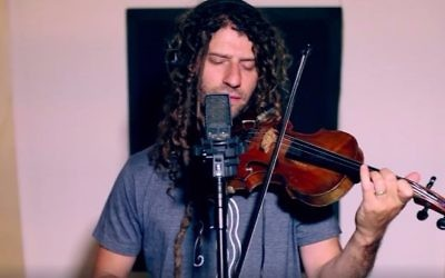 Jerusalem fiddler Michael Greilsammer shows his love for rock band Radiohead with his version of 'No Surprises' (Courtesy Michael Greilsammer)