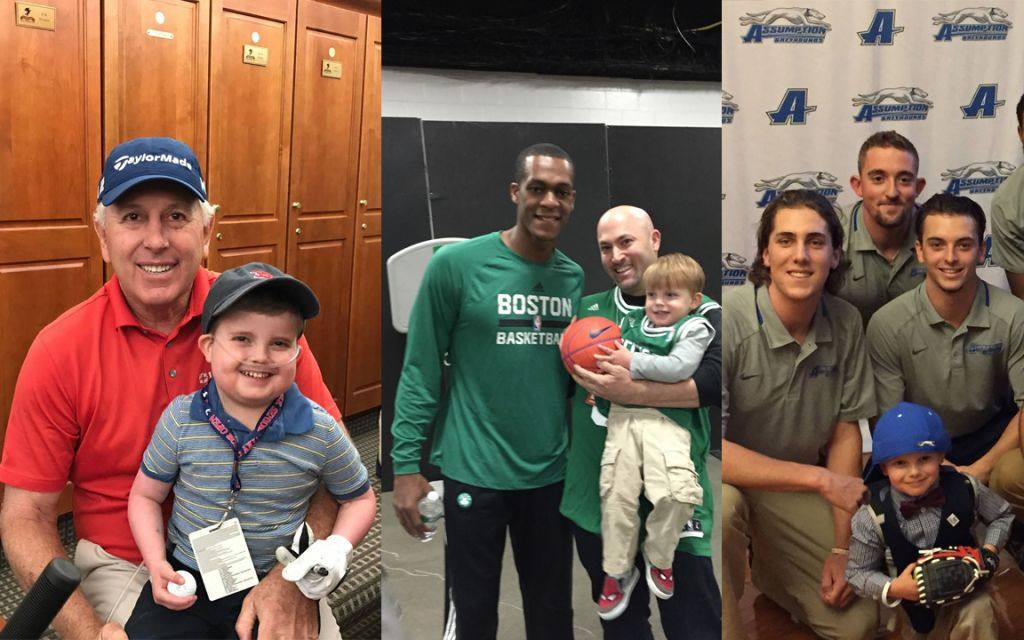 During the final months of his life, Ari 'Danger' Schultz met many sports stars (Courtesy)