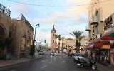 The iconic clock tower of Jaffa, November 21, 2011. (Liron Almog/FLASH90)