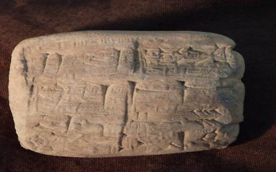 Cuneiform tablets that were falsely labeled as product samples and shipped to Hobby Lobby Stores. (US Attorney's Office for the Eastern District of New York)
