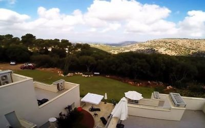 View from Kibbutz Eilon in the western Galilee. (Screen capture/YouTube)