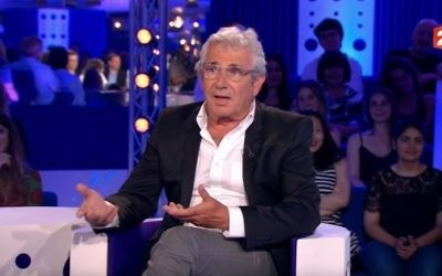 French-Tunisian Jewish actor and comedian Michel Boujenah in a TV appearance from June 17, 2017. (screen capture: YouTube)