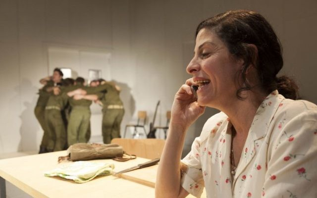 Efrat Ben Zur in 'To the End of the Land' performed at New York's Lincoln Center July 24-27, 2017 by Habima National Theater and the Cameri Theatre of Tel Aviv. (Gérard Allon)