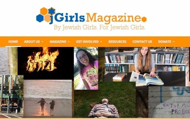 jGirls, an online magazine by and for Jewish teen girls, launched in June 2017. (Screenshot)