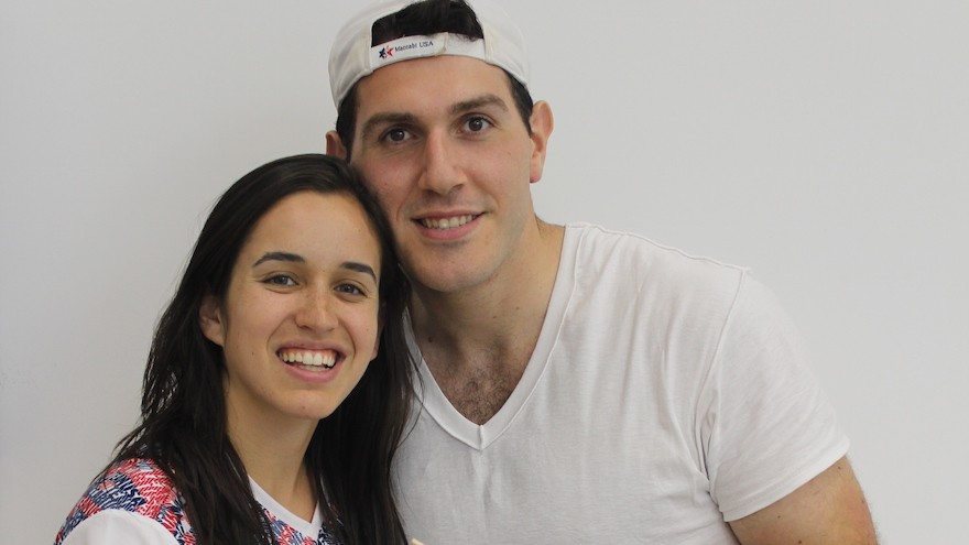 Allison Silfen and Danny Janel met at the 2013 Maccabiah Games. (Hillel Kuttler)
