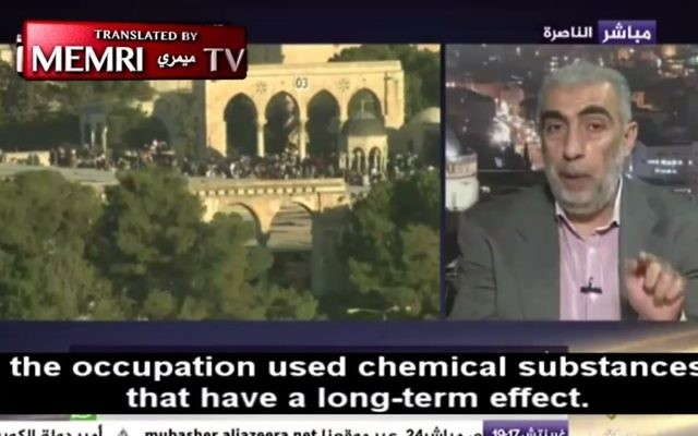Sheikh Kamal Khatib interviewed by Al-Jazeera, in a clip translated by MEMRI (Screen capture MEMRI)