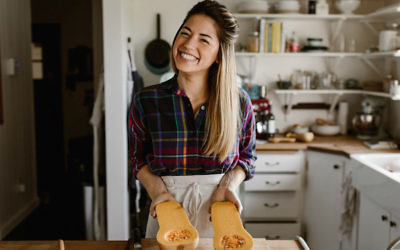 Molly Yeh has taken the food blogging world by storm with her bubbly personality and creative recipes. (Chantell Quernemoen/via JTA)