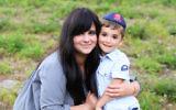 Chanie Apfelbaum with her son Peretz (Courtesy of Apfelbaum)
