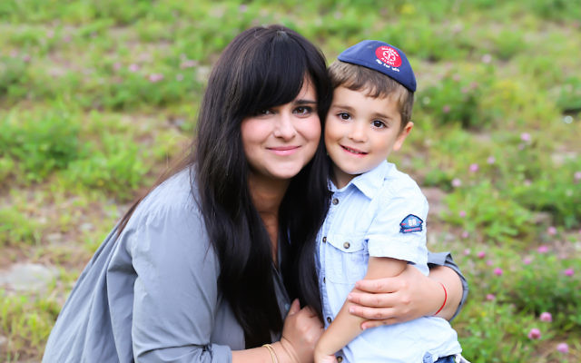 Chanie Apfelbaum with her son Peretz (Courtesy of Apfelbaum)