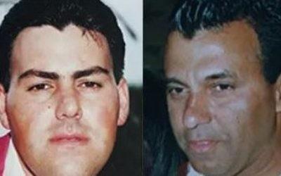 (L-R) Yehezkel Ramzerker and David Rabinovich, two Israeli policeman gunned down in the Jordan Valley on March 15, 2009. (Screen capture/YouTube)