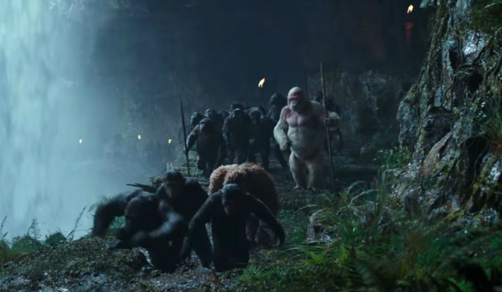 A scene from 'War for the Planet of the Apes.' (Youtube)