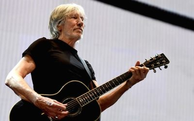 Musician Roger Waters performs during his Us + Them Tour at Staples Center on June 20, 2017, in Los Angeles, California. (Kevin Winter/Getty Images via JTA)