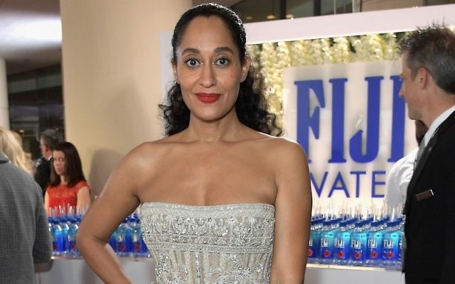 Tracee Ellis Ross at the Golden Globe Awards in Beverly Hills, Calif., Jan. 8, 2017. (Charley Gallay/Getty Images for FIJI Water)